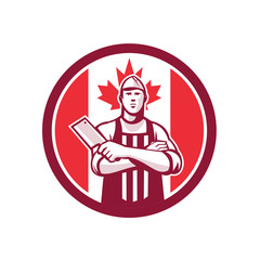 Canadian Butcher Front Canada Flag Icon