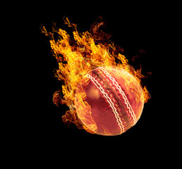 Fire sports ball effect isolated on black