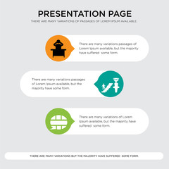 english language, ambition, frustration presentation design template in orange, green, yellow colors with horizontal and rounded shapes