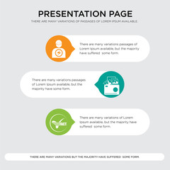 facts, photo gallery, pathology presentation design template in orange, green, yellow colors with horizontal and rounded shapes