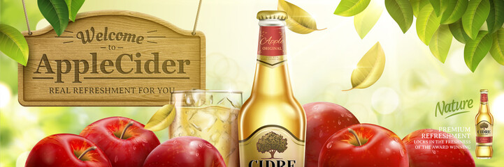 Apple cider ads