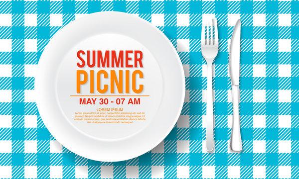 vector summer picnic design