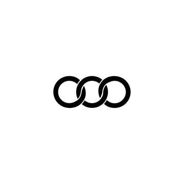 triple letter o logo vector