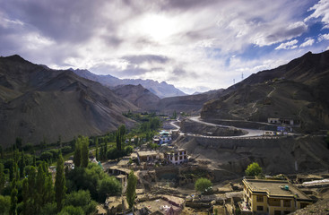 Mountain scenery near himalaya at sham valley ladakh India.