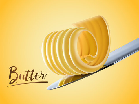 Creamy butter element