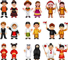funny traditional costume in the world cartoon