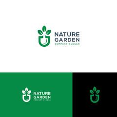 green garden vector illustration