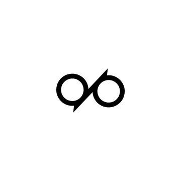 letter dp logo vector