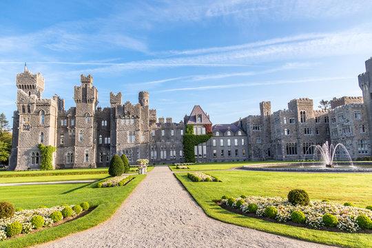 Ashford Castle. A medieval castle built in 1228. Mayo, Ireland.
