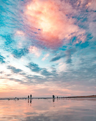 Amazing Colorful Clouds and Beach