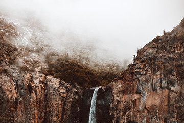 Top of a Waterfall in Fog