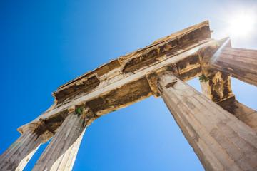 Gate of Athena Archegetis below the Acropolis of Athens, Greece