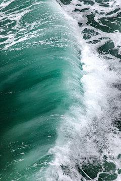 View of wave splashing in the ocean