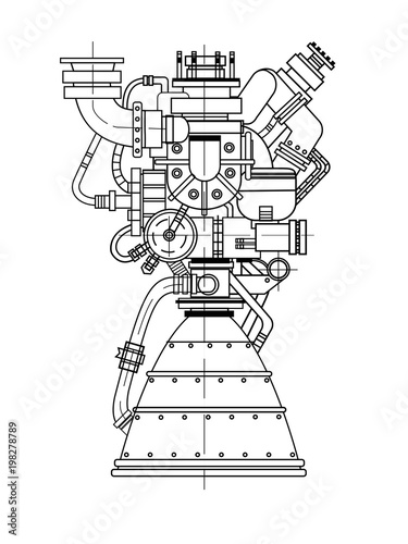Set Of Drawings Of Engines