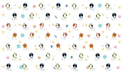 JackRussell dogs cartoon pattern