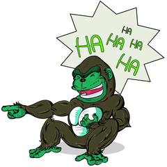 gorilla laugh out loud very happy