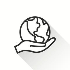 Globe - vector icon.