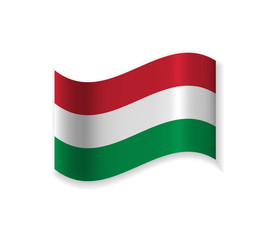 The Official Flag Of Hungary. Country in Central Europe. Vector illustration of a state symbol.