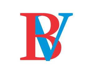 BV initial alphabet typography typeface typeset logotype alphabet image vector icon