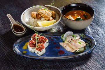 lunch in japanese restaurant