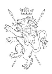 Fighting Lion Insignia
