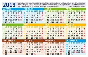 Taschenkalender 2019