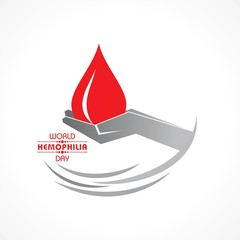 Vector Illustration of World Hemophilia Day Greeting