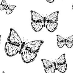 Butterflies. Seamless pattern