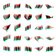 Libya flag, vector illustration