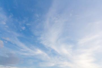 light cirrus cloud on blue sky background
