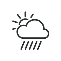 Black and white variable cloud icon