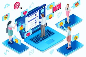 Modern global people communication