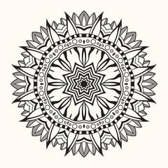 Floral mandala. Decorative round ornament.