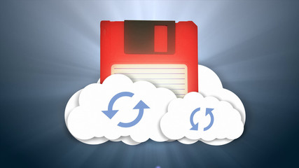Information and the cloud. Cloud-based media storage. Secure online storage