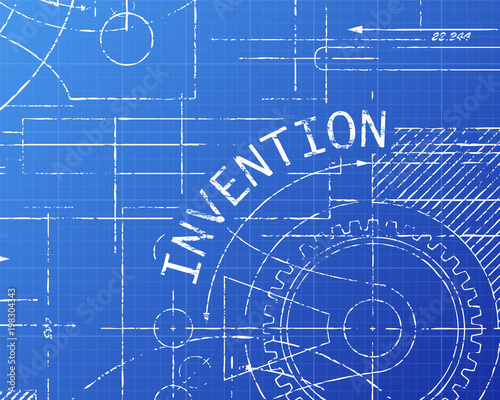 Invention blueprint machine stock image and royalty free vector invention blueprint machine malvernweather Images