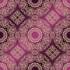 Vector damask seamless pattern background. Classic vintage pattern. Seamless Damask Wallpaper