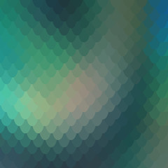 background of small colorful green fish scales forming a background of reptile and snake skin.