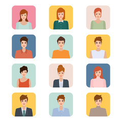 Group of people diversity. Vector illustration of flat design people characters. Business character in human resource.