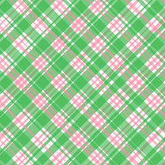 Vector checkered green - pink background for textiles, napkins and wallpaper.