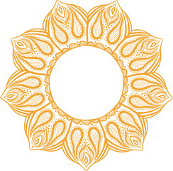 Simple colorful abstract mandala, ethno motive. Bright circular ornament consists of simple shapes. Stylized ethnic motive of East Asia. Vintage decorative elements. Circular ornament.