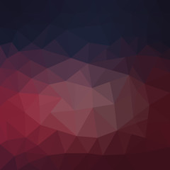 Dark red polygonal illustration, which consist of triangles. Geometric background in Origami style with gradient. Triangular design for your business.