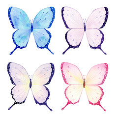 Butterfly watercolor collection, handmade sketch. Perfect for greeting cards,wedding,invitations,printing on fabric.