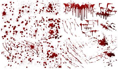 Blood background,ink splatter background, isolated on white.