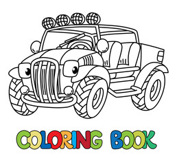 Funny Buggy car or outroader coloring book