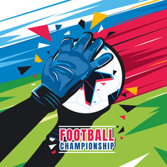 Football championship. Concept vector illustration