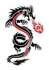 fiery dragon tattoo
