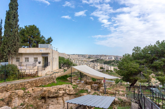 view of shepherds' field, Beit Sahour, Bethlehem