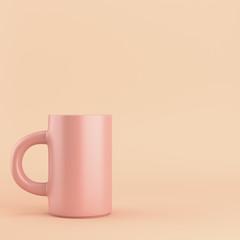 Coffee mug on bright background