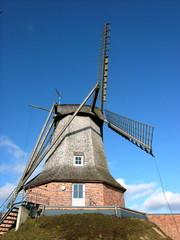 Aluminium Prints Mills Die alte Sinninger Mühle vor klarem blauen Himmel bei Saerbeck im Kreis Steinfurt im schönen Westfalen