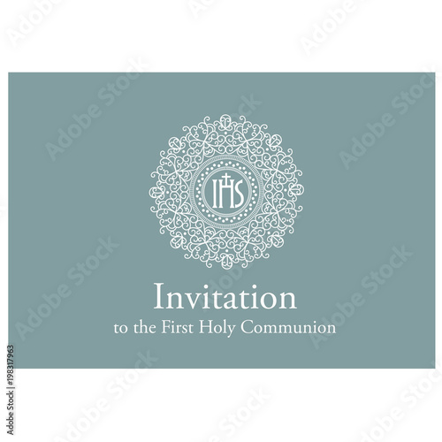 first communion invitations template